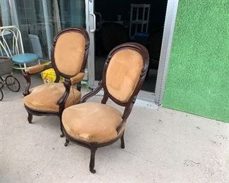 Pair Great Antique Chairs