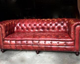 Edwardian Chesterfield English Sofa
