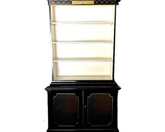Chinoiserie paint decorated bookcase/cabinet