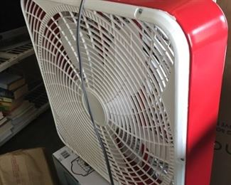 Window fan - red or black available