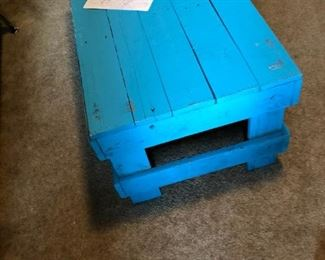 New coffee table wood crate
