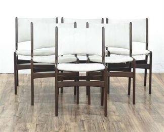Danish Modern Chairs With Geometric Design, Set Of 6