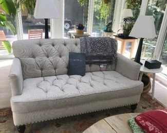 Petite Pottery Barn tufted sofa- there are 2 of these