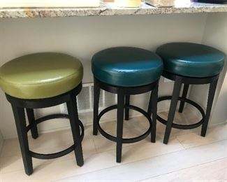 Colorful bar stools- there are 6 of these