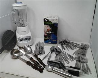 Silverware Cutco and Blender