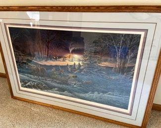 Terry Redlin A Helping Hand Framed Print