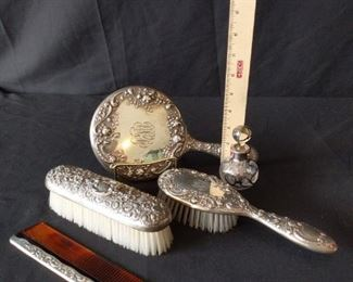 Repousse Sterling Vanity Set for Her