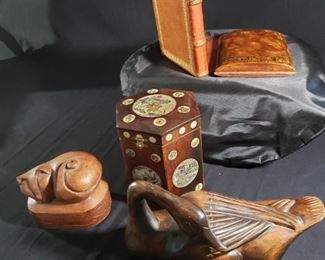 Vintage Wood Leather Collectibles
