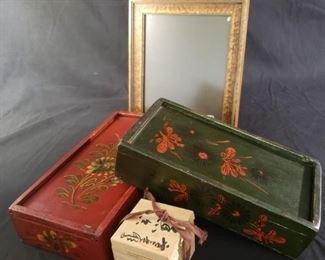 Vintage Asian Pen Ink Boxes More
