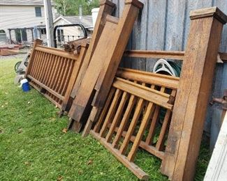 Antique Solid Oak Banister from an old store (Stewarts) in Roscoe, NY