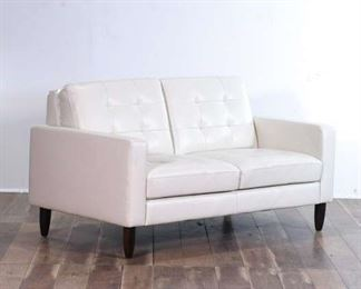Loveseat With White Upholstery