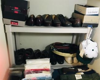 Men's shoes...11 1/2 Is the lucky size! Florsheim, Stanley Blacker, Bostonian, & more.