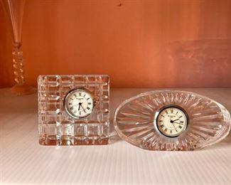 Pair Waterford Clocks