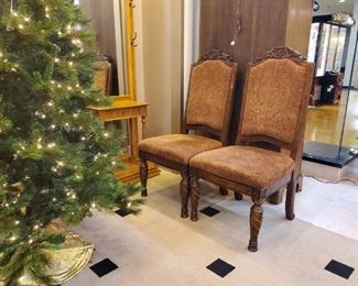 These two chairs are part of a formal dining set we have!