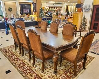 Formal dining set with 10 chairs!  Get ready for the holidays with this beautiful set!