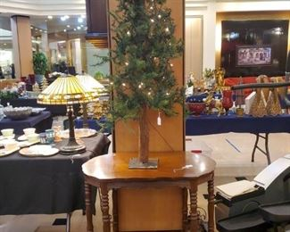 Antique table - lots of trees!