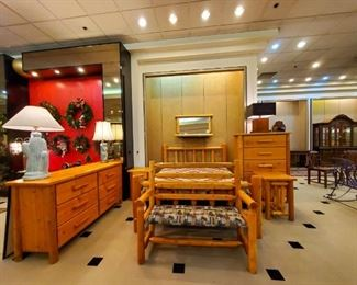 Great Northern Furniture - bed, chest, dresser, mirror, nightstands, and bench