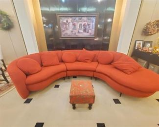 Adorable curvy couch!