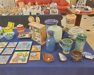 Pottery - love all the colors!