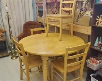 Table and four chairs!