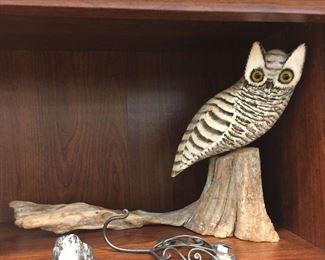 Cool eclectic hand carved art.