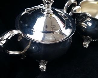 On Sale Now 50% off -$15!!! ACCEPTING OFFERS VIA TEXT ON THIS ITEM 225.287.1309                    Vintage Silver Plated Sugar and Creamer Set.  Purchase online at https://FecitAntiquesAndEstates.net/shop.  Located in Vintage Silver and Silverplate.