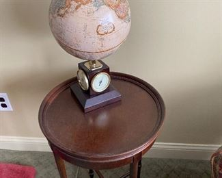 REPLOGLE WEATHER WATCH GLOBE  RETAILS FOR $250 ON A HEKMAN TABLE