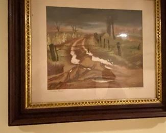 """JOSEPH MEERT PAINTING """"MUDDY ROAD""""      Joseph Meert,  Born Brussels, Belgium, 1905; died Waterbury, CT, 1990.an abstract expressionist and friend of Jackson Pollock actually saved Pollock's life one night. On a sub-zero winter night of 1943 or 1944, Pollock came to visit Meert at his apartment, however Pollock had passed out drunk in a snowdrift and would have frozen to death had it not been for Meert.  In the 1920s, he was a resident of Kansas City, Kansas living at 1014 Tenny Street and taught at the Kansas City Art Institute from 1935 - 1941. Despite his extensive exhibition record, Meert never found financial success. In 1980, after the death of his wife, his medical and mental condition began to deteriorate, but he was misdiagnosed with schizophrenia and became a ward of a state nursing home. In 1985, the Pollock-Krasner Foundation awarded a grant to have him transferred to a better facility in Cheshire, CT, where he received art therapy treatment and benefited from this until hi"""