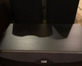 BOWERS AND WILKINS SPEAKERS AND STANDS