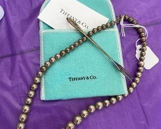 Tiffany & Co necklace and Elsa Paretti