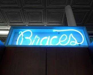 Neon Braces sign