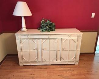 Lane buffet/bedroom storage $300, lamp $30