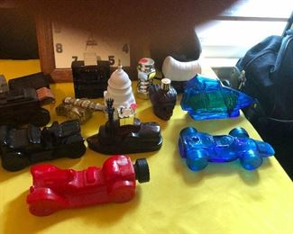 Collectible Avon car-shaped cologne bottles
