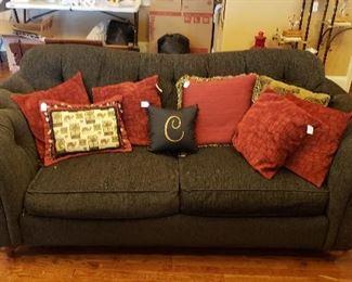 Ethan Allen sofa/ pillows