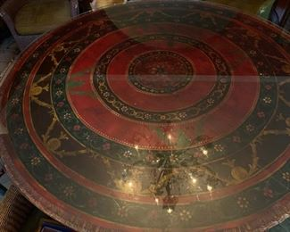 """60"""" Hand Painted Table from ABC Carpet"""