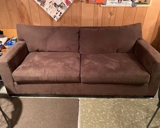 Mitchel Gold Brown Ultra Suede Couch