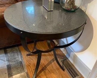 Indoor/Outdoor  Black Metal Table