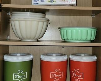 Vintage canister sets. Tupperware