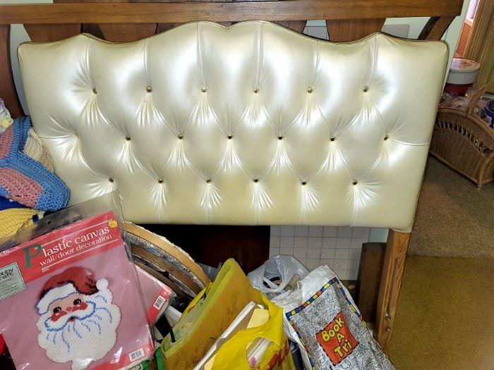 Vintage tufted twin bed headboard