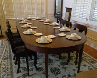 Dining table 10 feet long.  $500