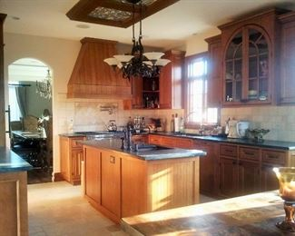 "ENTIRE BRAND ""NEW"" KITCHEN CABINETS, STONE COUNTER TOPS, INTEGRATED APPLIANCES (NO STOVE OR FRIG)!"