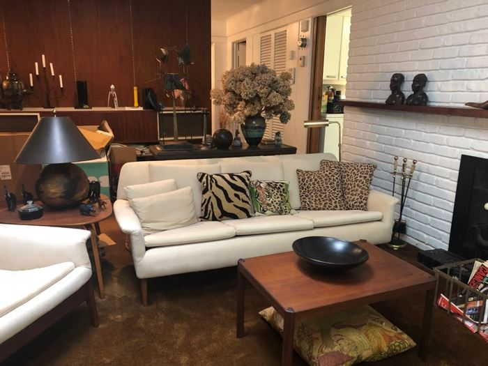 Fabulous vintage furnishings throughout - MCM Sofas & coffee & end tables