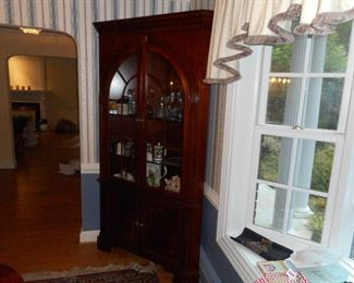 1 of 2 corner Cabinets in Dining Room