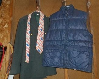 Puffy Down Vest, and Military Jacket