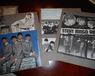 Scrapbook Pages with Beatles Photos