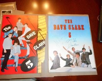 Back of Scrapbook Pages with Dave Clark Five Concert Memorabilia