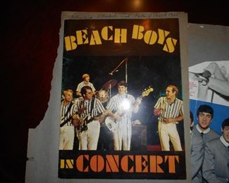 Back of Scrapbook Page with Beach Boys Concert Program