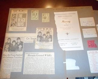 Scrapbook Pages with Beach Boys Concert Memorabilia