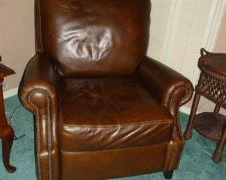 Nice Leather Recliner from Pottery Barn