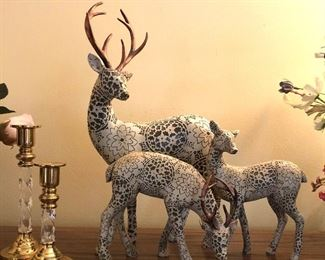 Candle holders decorative reindeer